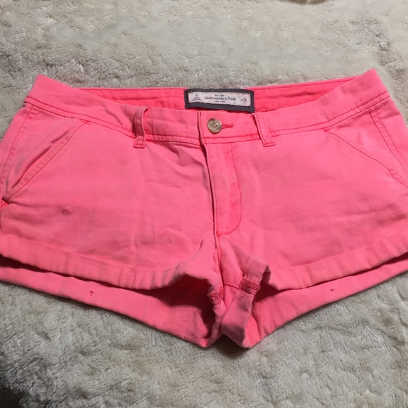 Abercrombie & Fitch Pants - Neon pink Abercrombie shorts